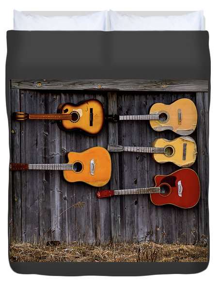 Retired Guitars  Duvet Cover