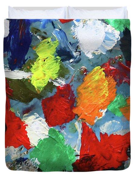 The Artists Palette Duvet Cover