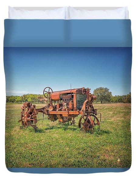 Retired Tractor Duvet Cover