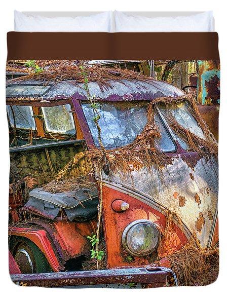 Retired Vw Bus Duvet Cover