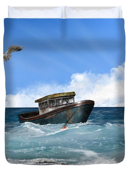 Retiring From The Fleet Duvet Cover