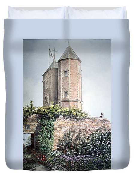 Duvet Cover featuring the painting Retreat Of A Writer by Rosemary Colyer