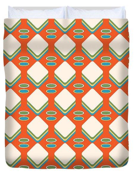 Retro 1950's Pattern Duvet Cover