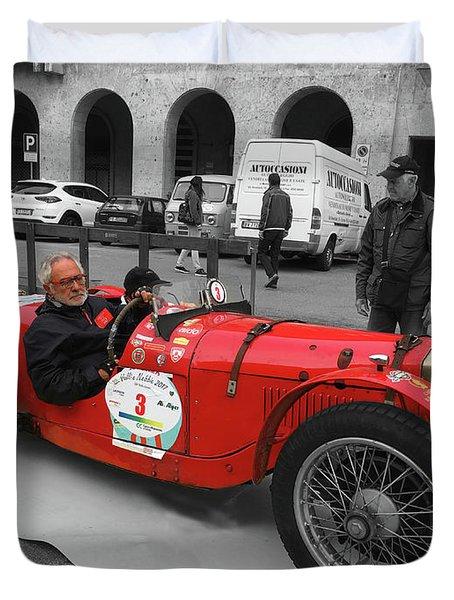 Retro Auto Fiat Balilla Duvet Cover