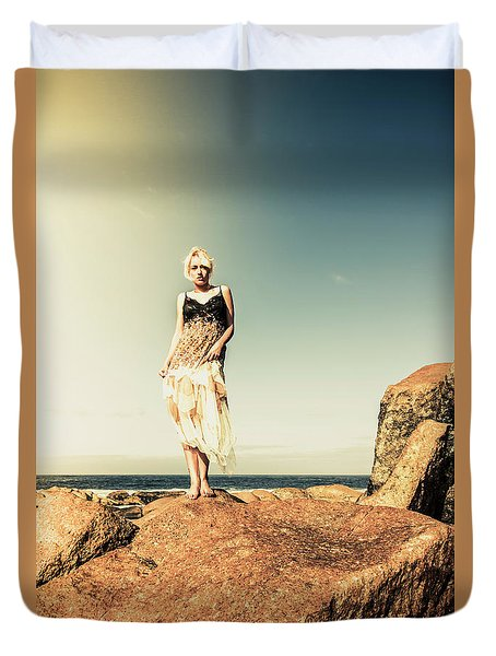 Retro Beach Fashions Duvet Cover