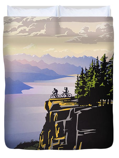 Retro Beautiful Bc Travel Poster Duvet Cover