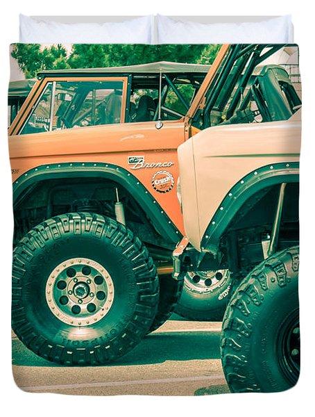 Retro Bronco Heaven Duvet Cover