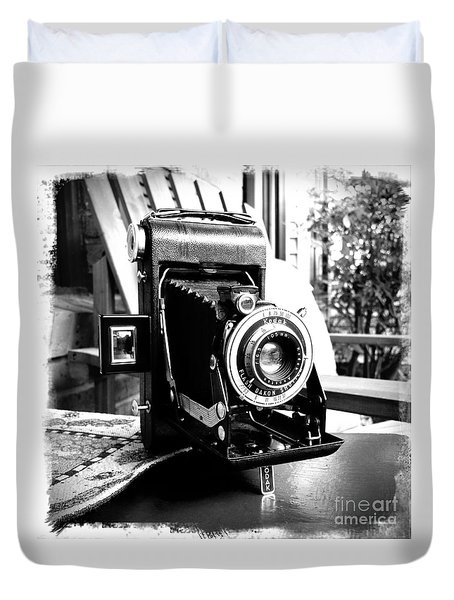 Duvet Cover featuring the photograph Retro Camera by Daniel Dempster