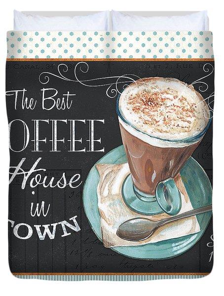 Retro Coffee 2 Duvet Cover