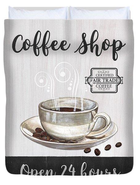 Retro Coffee Shop 1 Duvet Cover
