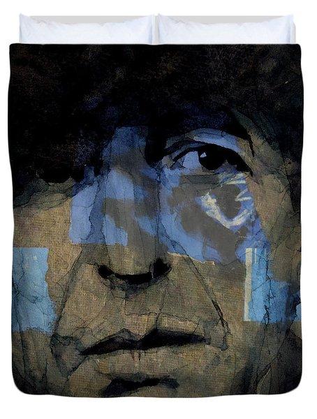 Retro- Famous Blue Raincoat  Duvet Cover