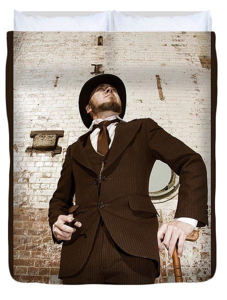 Retro Nobel Man Duvet Cover