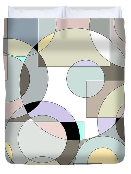Retro Pastels  Duvet Cover