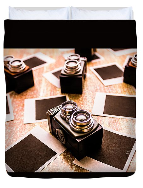 Retro Photographic Scene Duvet Cover