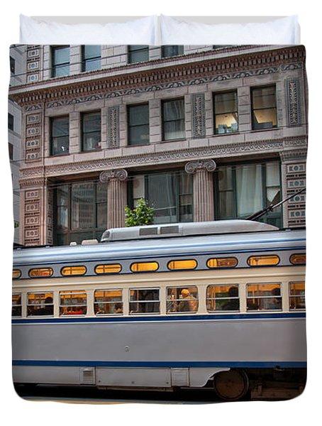 Retro San Francisco Streetcar Duvet Cover