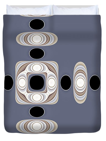 Retro Shapes 1 Duvet Cover