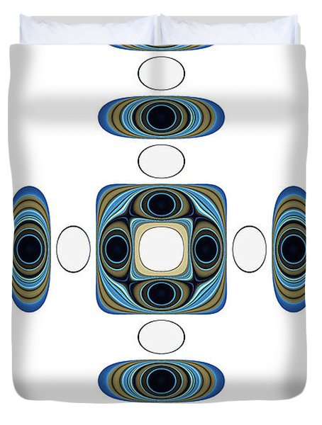 Retro Shapes 2 Duvet Cover