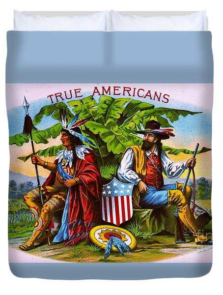 Duvet Cover featuring the photograph Retro Tobacco 1885 by Padre Art