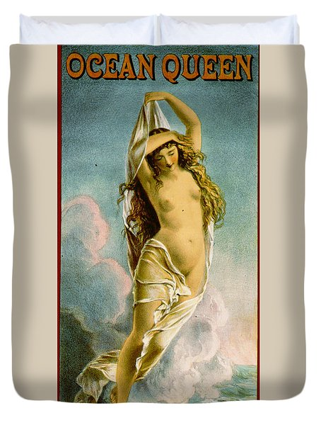 Retro Tobacco Label 1875 Duvet Cover by Padre Art