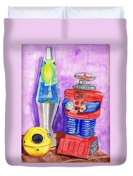 Retro Toys Duvet Cover