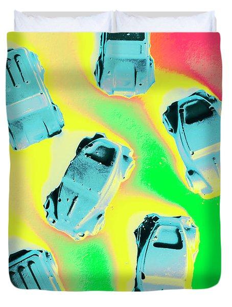 Retroactive Racing Duvet Cover