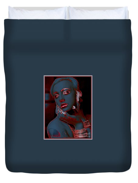 Duvet Cover featuring the photograph Retro Beauty by Irma BACKELANT GALLERIES