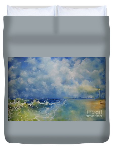 Retrospection Seascape Duvet Cover