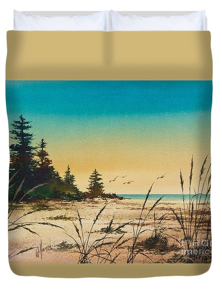 Return To The Shore Duvet Cover by James Williamson