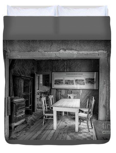 Duvet Cover featuring the photograph Returning To The Past by Sandra Bronstein