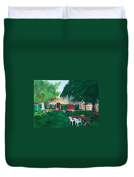 Retzlaff Winery Duvet Cover