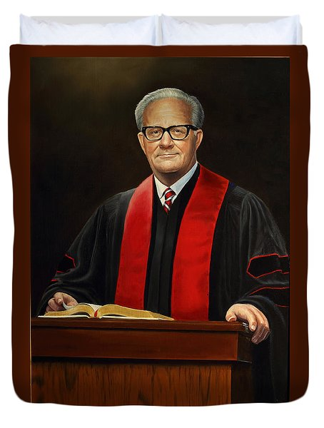 Duvet Cover featuring the painting Rev Joe Phillips by Glenn Beasley