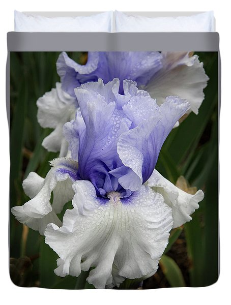Duvet Cover featuring the photograph Revealing Iris by Jean Noren