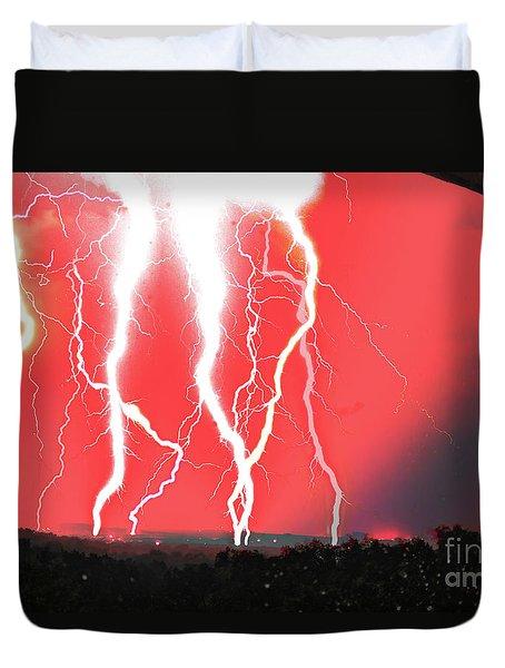 Lightning Apocalypse Duvet Cover