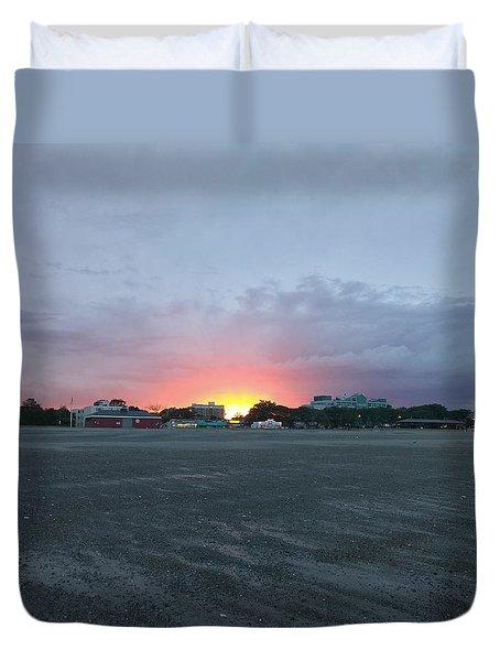 Revere Beach Sunset Duvet Cover