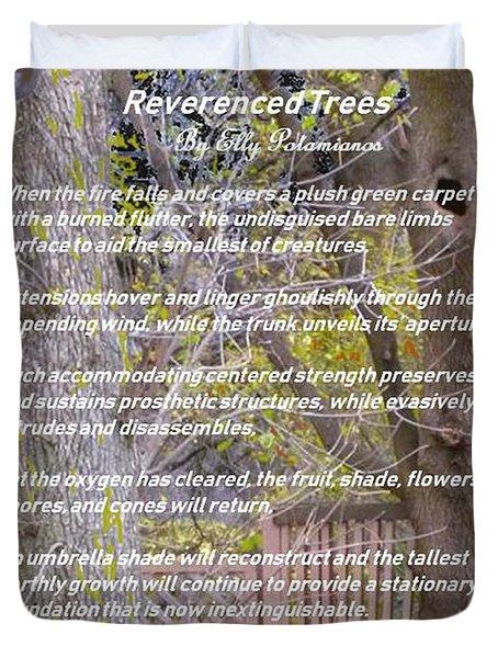 Reverence Of Trees Duvet Cover
