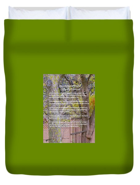 Reverence Of Trees Duvet Cover