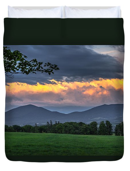 Reverse Sunset Duvet Cover by Tim Kirchoff