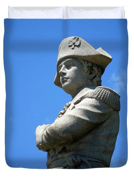 Revolutionary War Soldier Duvet Cover by Susan Lafleur