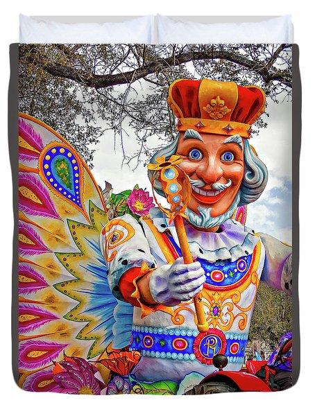 Rex Rides In New Orleans Duvet Cover by Steve Harrington
