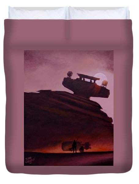 Rey Looks On Duvet Cover by Dan Wagner