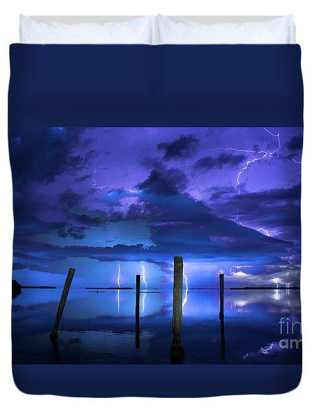 Blue Nights Duvet Cover by Quinn Sedam