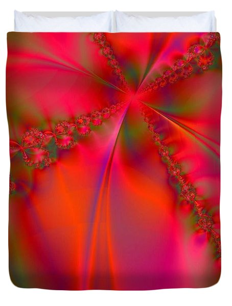 Rhapsody In Red Duvet Cover by Robert ONeil