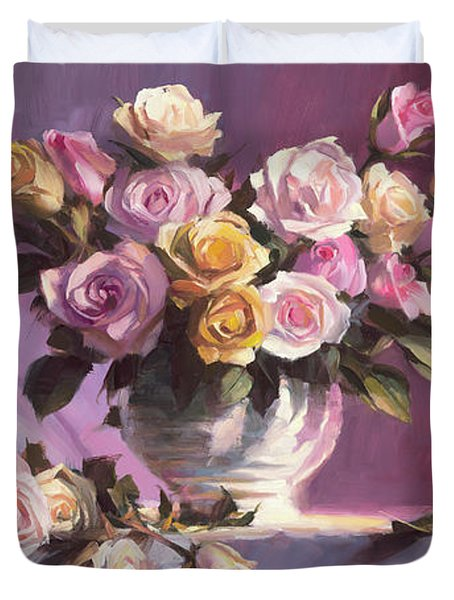 Rhapsody Of Roses Duvet Cover