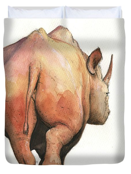 Rhino Back Duvet Cover