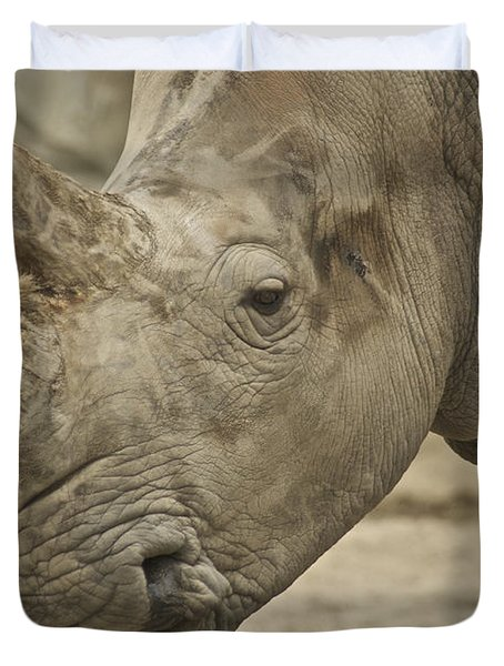 Rhino Duvet Cover by Michael Peychich