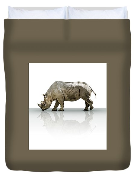 Rhinoceros Duvet Cover