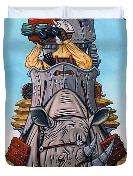 Rhinoceros Riders Duvet Cover