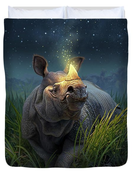 Rhinoceros Unicornis Duvet Cover
