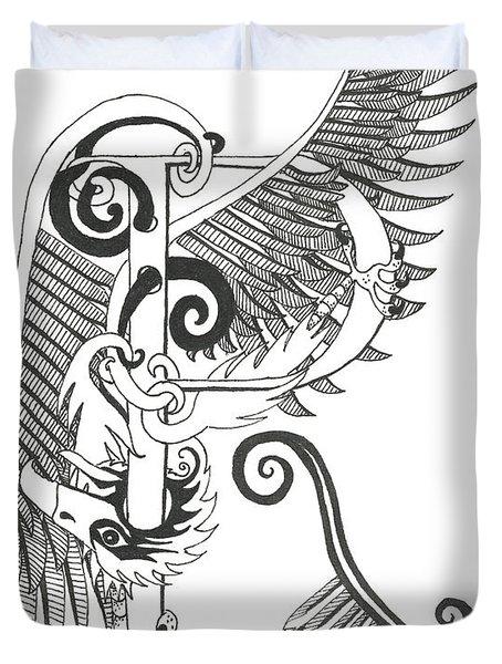 Rho Eagle Duvet Cover by Melinda Dare Benfield
