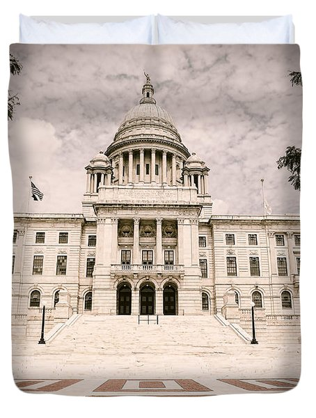 Rhode Island State House Duvet Cover by Lourry Legarde